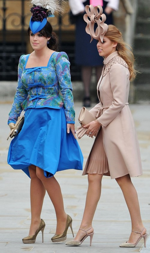 As princesas Eugenie e Beatrice de York, filhas do Príncipe Andrew