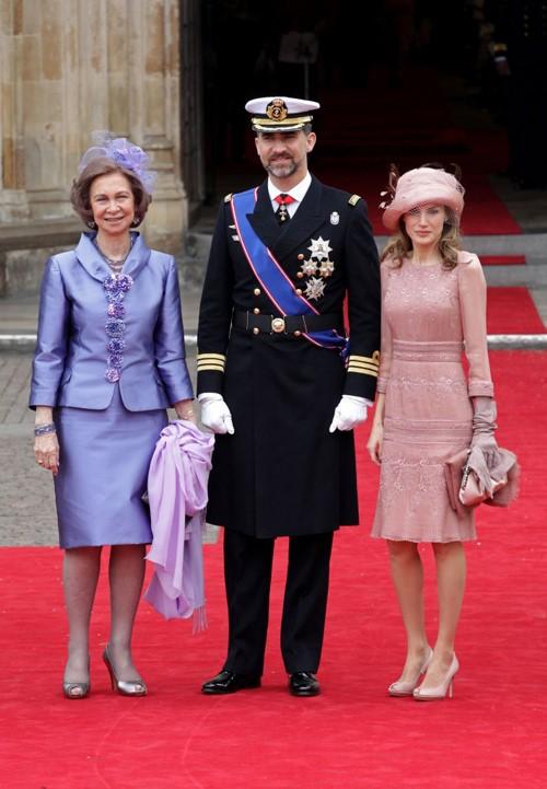 Rainha Sophia da Espanha, Príncipe Filipe e Princesa Letizia
